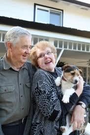 elderly with dog
