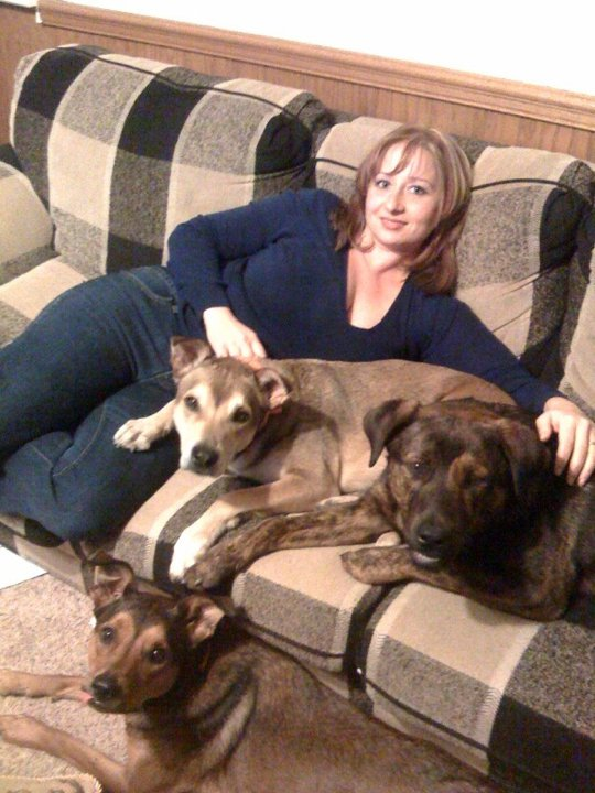 Here I am with my first 3 dogs.  I have learned so much about dogs in the last 5 years.  I hope to help to share some of that with you.