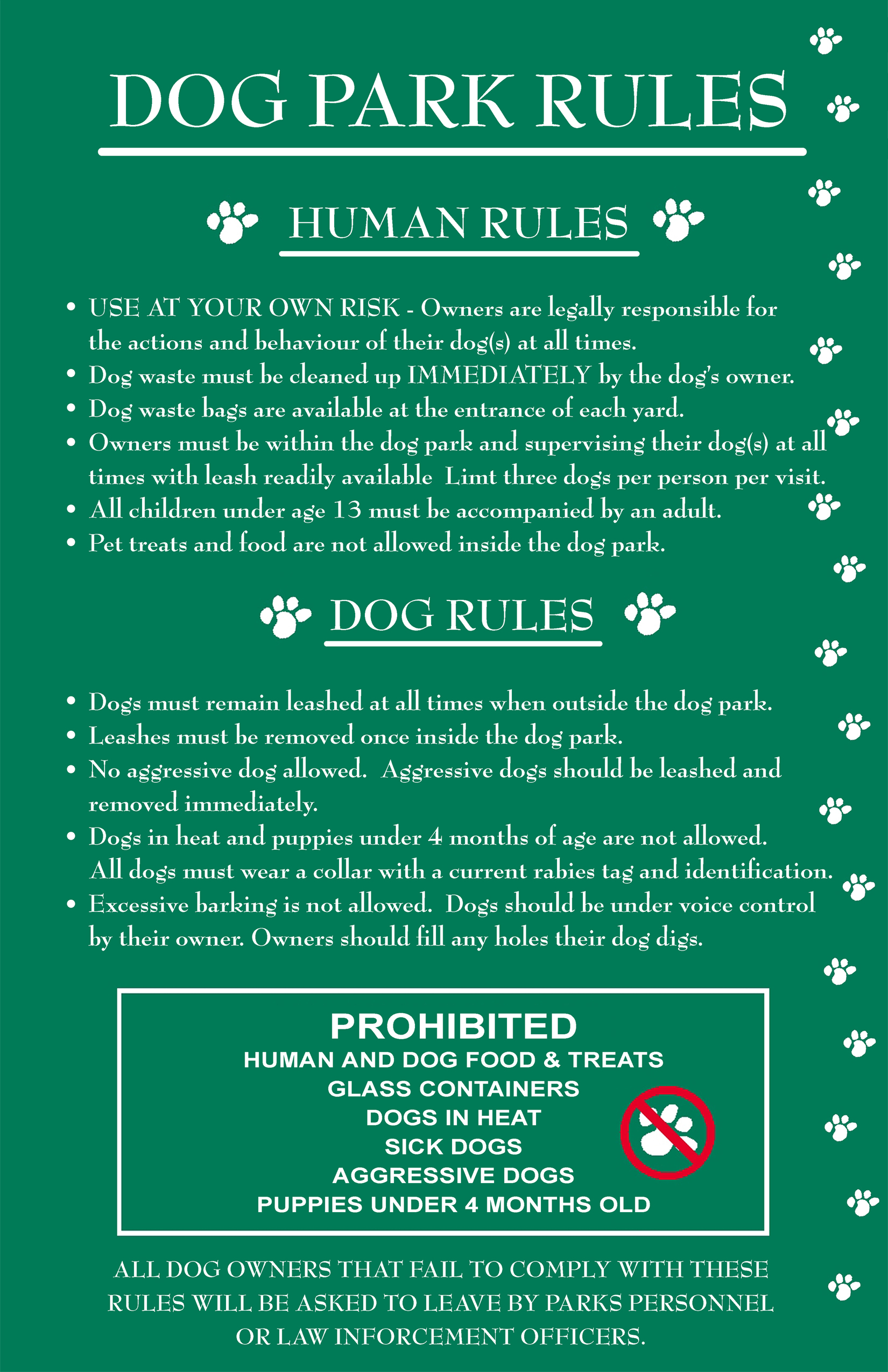 National Park Rules For Dogs